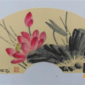 中国美协会员王恩镇国画扇面