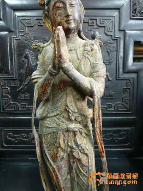 传世铜泥金菩萨图3