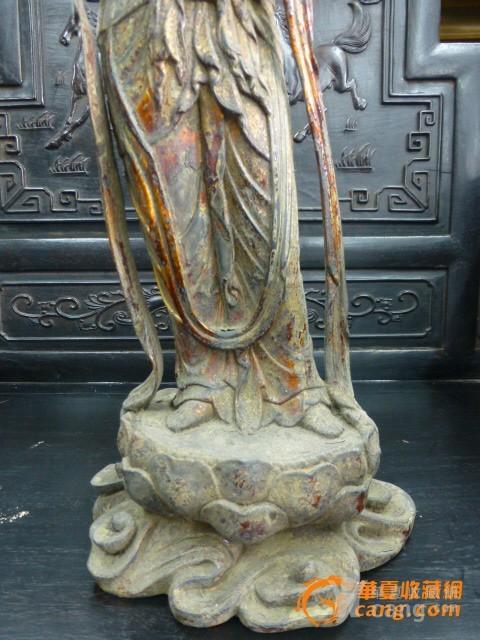 传世铜泥金菩萨图4
