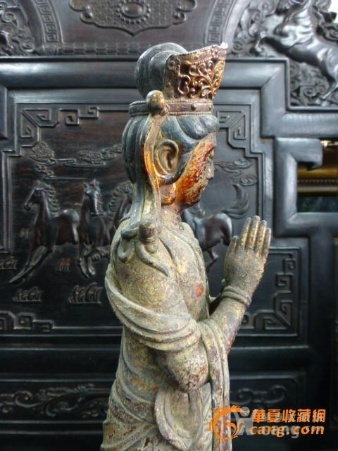 传世铜泥金菩萨图7