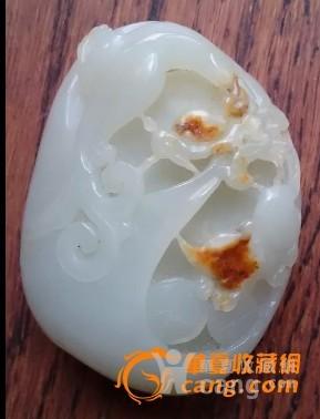 外围网 白玉籽料把件【喜鹊登枝】-图1