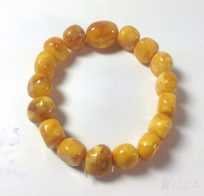 黄玉米豆形蜜蜡弹力手链图4