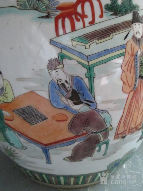 五彩人物故事纹盖缸图5
