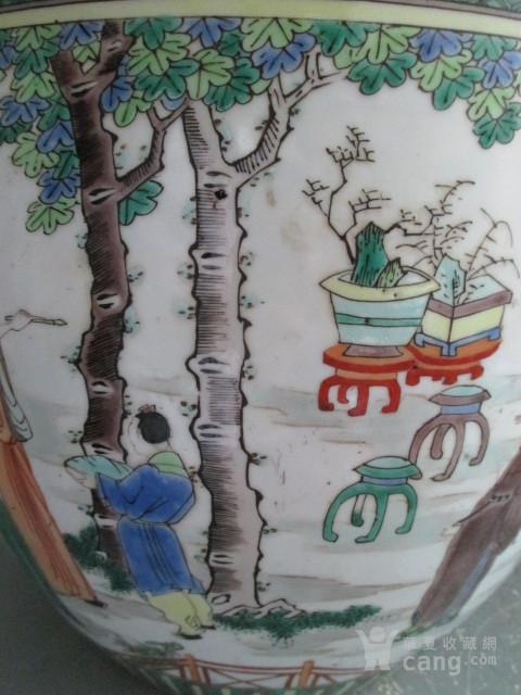 五彩人物故事纹盖缸图11
