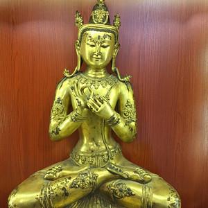 神品重器 清代 铜鎏金大佛像