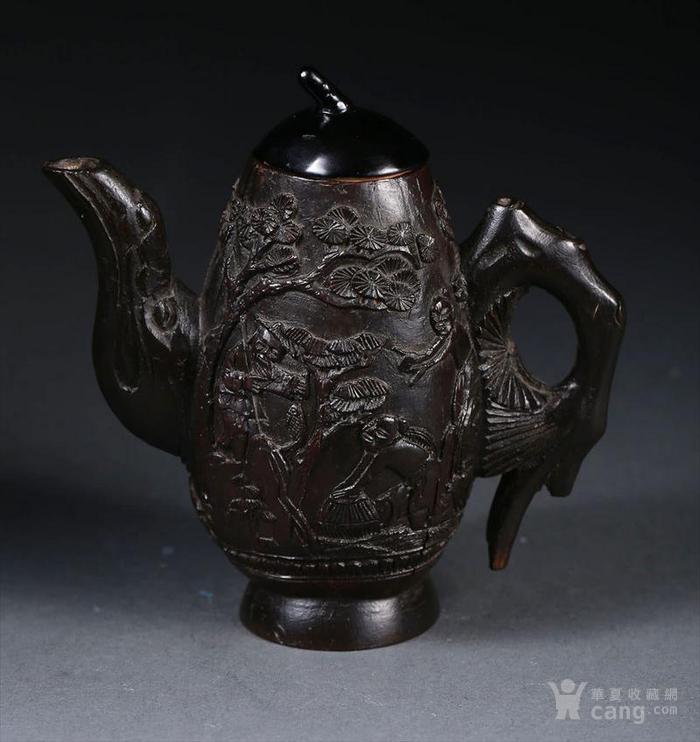 一个椰壳雕茶壶。9.3cm图6
