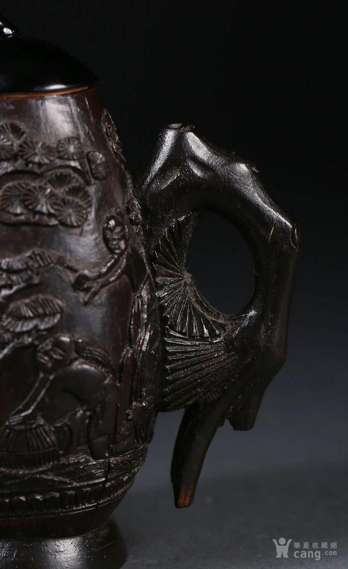 一个椰壳雕茶壶。9.3cm图7