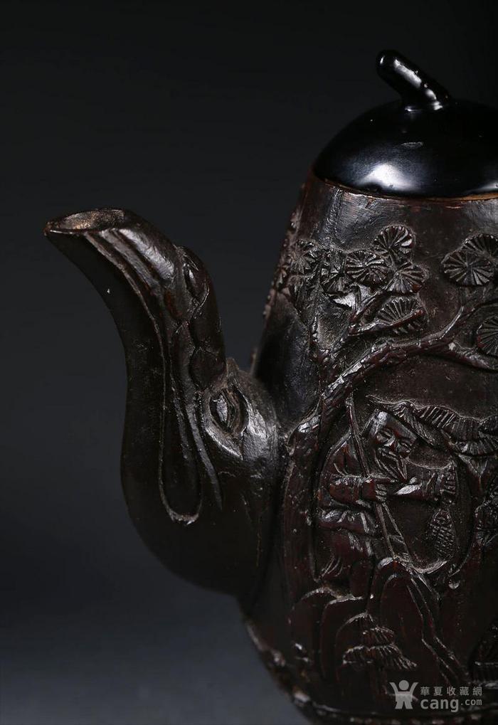 一个椰壳雕茶壶。9.3cm图8