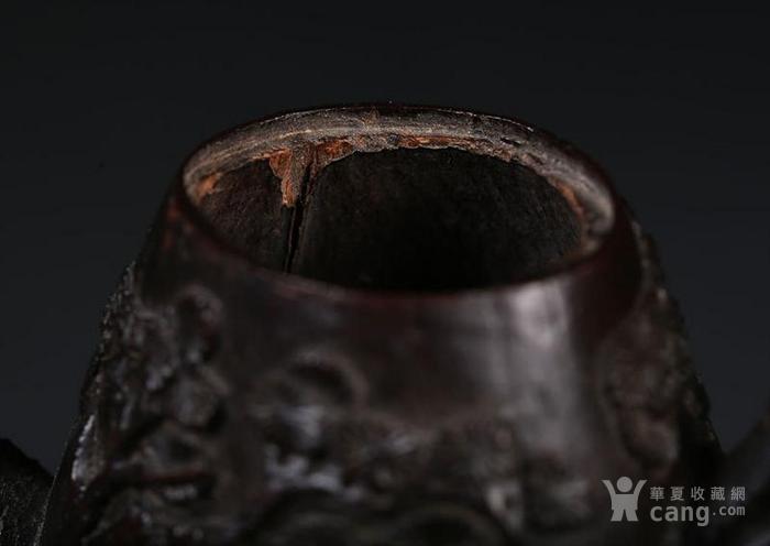 一个椰壳雕茶壶。9.3cm图9