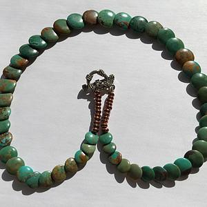 H0047 美国亚利桑那州天然松石项链