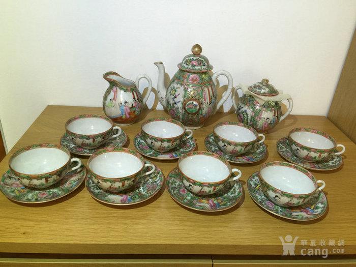 晚清民国广彩茶具一套图1