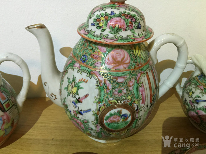 晚清民国广彩茶具一套图2