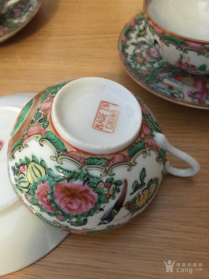 晚清民国广彩茶具一套图7