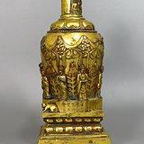 「唐」开元八年鎏金佛像铜塔