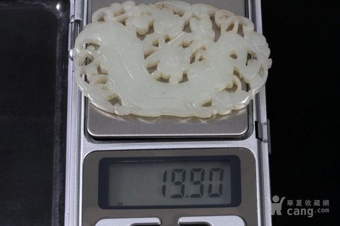 清代 和田 白玉 精品 梅花佩 。图9