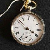 欧洲茉莉回流【英国老银怀表上弦表带钥匙】1919年