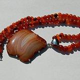 印第安河回流*清玛瑙项链,带新玛瑙纯银大坠(不还价)