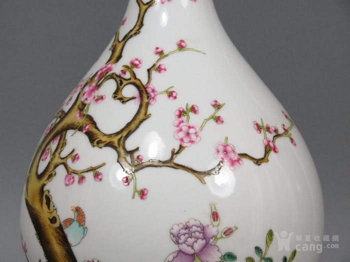 雍正粉彩梅花喜鹊图花瓶