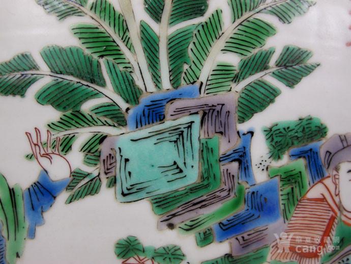 清康熙 五彩刀马人物画缸图6