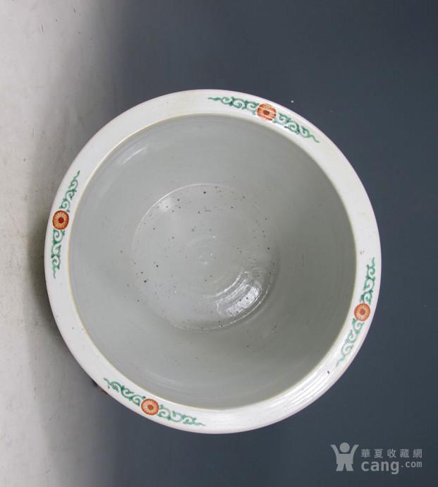 清康熙 五彩刀马人物画缸图10
