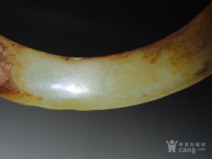 古玉老玉/难得的黄玉老玉镯子/汉代的螭龙纹黄玉镯子图10