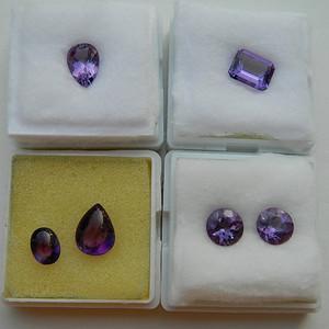 印第安河回流*几十年的老紫晶裸石6颗(狂欢节)