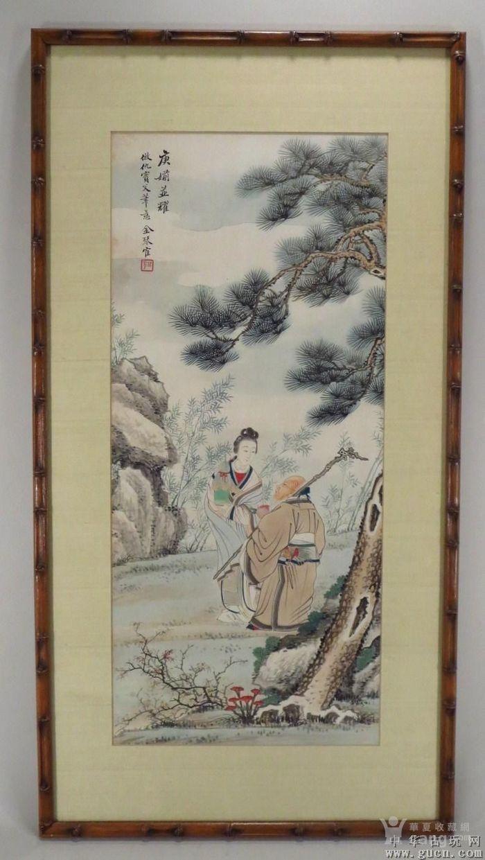 62/25cm清晚民国人物画图1