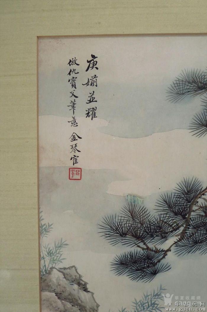 62/25cm清晚民国人物画图3