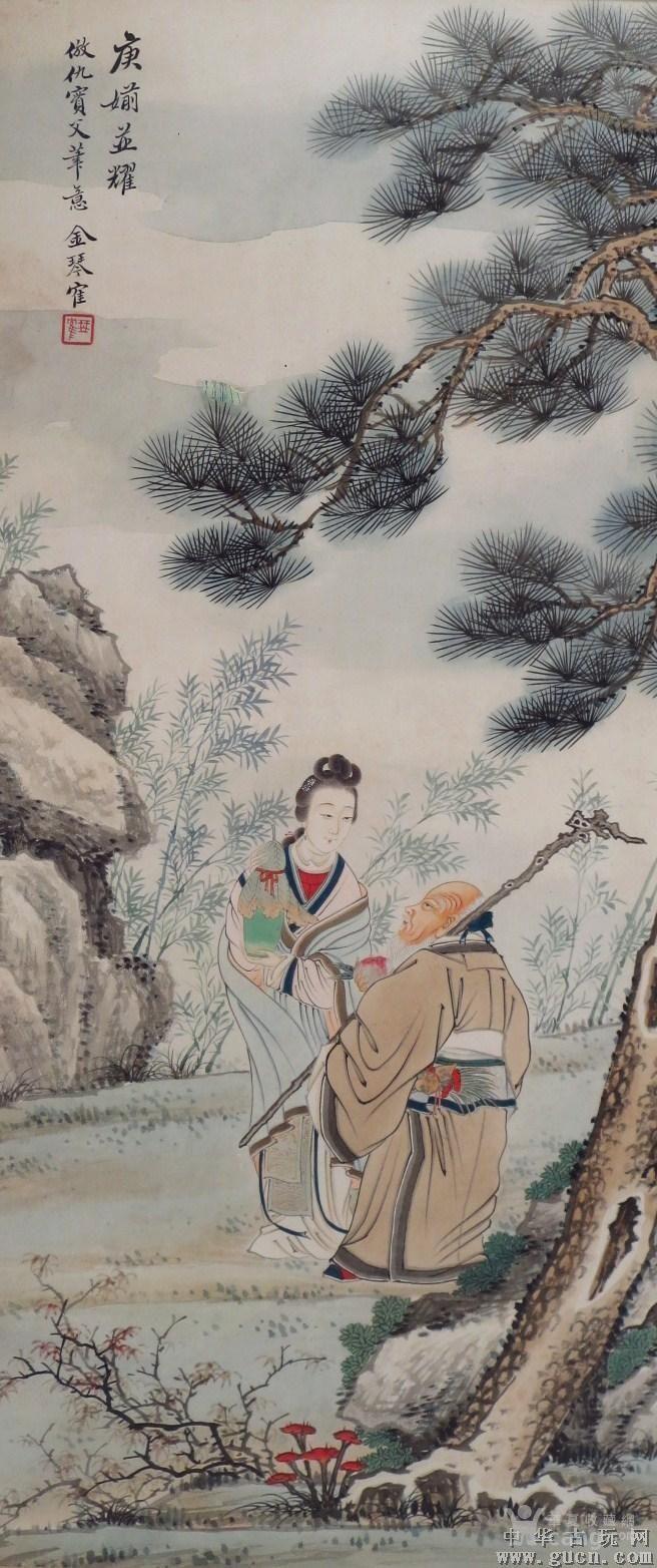 62/25cm清晚民国人物画图5