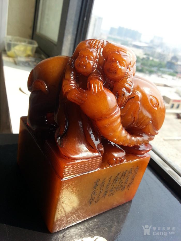 民国,邓散木弟子:毕民望作 黄芙蓉冻石 象钮闲章图12