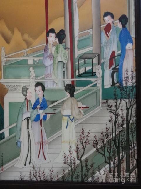 传世粉彩人物瓷板一套【12副】图5