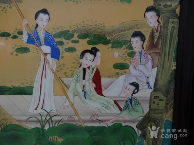 传世粉彩人物瓷板一套【12副】图9
