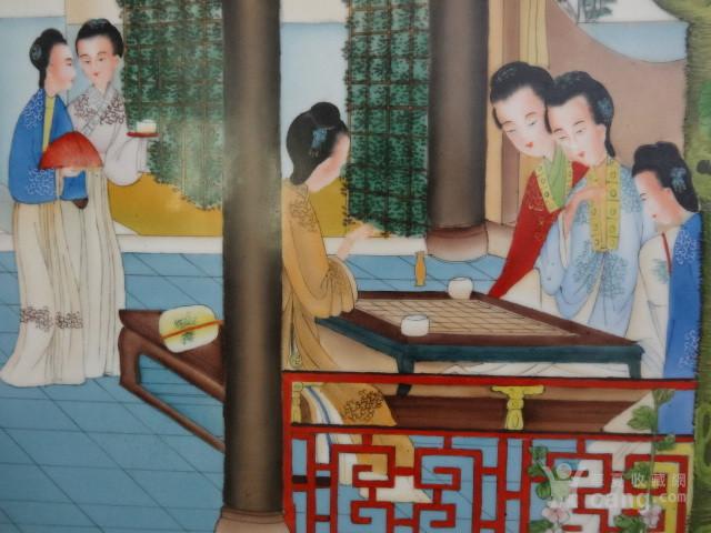 传世粉彩人物瓷板一套【12副】图10