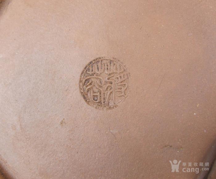 近代名家 树桩纹佛手钮紫砂壶图11