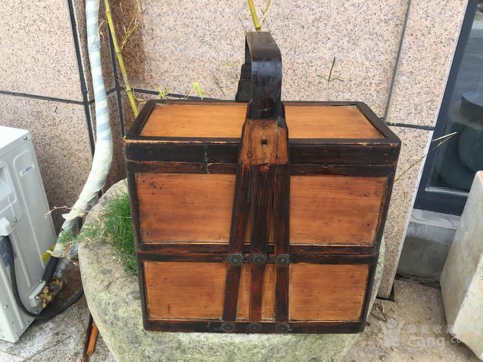 银杏木提篮一个图1