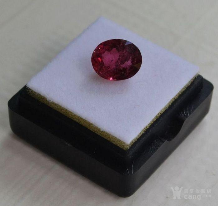 紫红色碧玺  尼日利亚纯天然紫红色碧玺3.27克拉图3