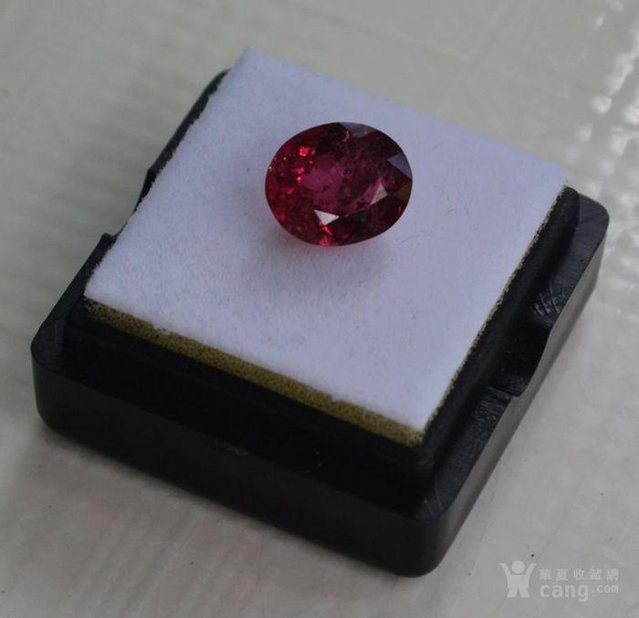 紫红色碧玺  尼日利亚纯天然紫红色碧玺3.27克拉图4