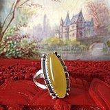 蜜蜡 银戒指