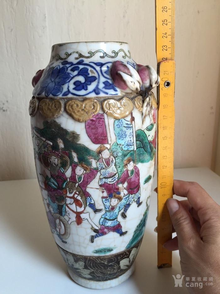 1119 清同治刀马人物粉彩瓶图9