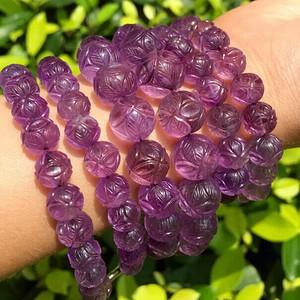 民国 刻面 天然 圆珠 紫晶 双排 精品 项链。不议价。
