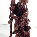 黄杨木雕刻寿星童子