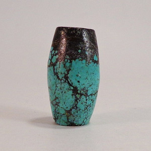 回流绿松石DIY 原矿绿松石大桶珠11.7克