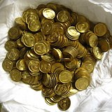 全新未流通卷拆85年长城币铜一角380枚