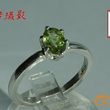 美国【全新】火彩迷人高净度 绿色 榍石 戒指