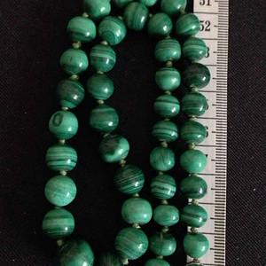 天然孔雀石项链