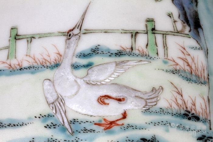 清代 粉彩 四季花卉 开窗山石花鸟 动物 姜罐,不议价。图7