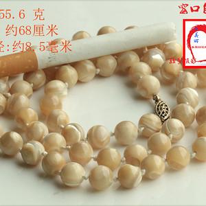 ★★美国直邮 特价 回流 老砗磲圆珠项链
