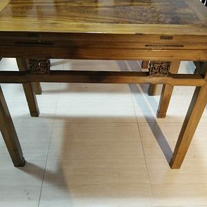 金丝楠木束腰书桌一对     明清古典金丝楠木老家具