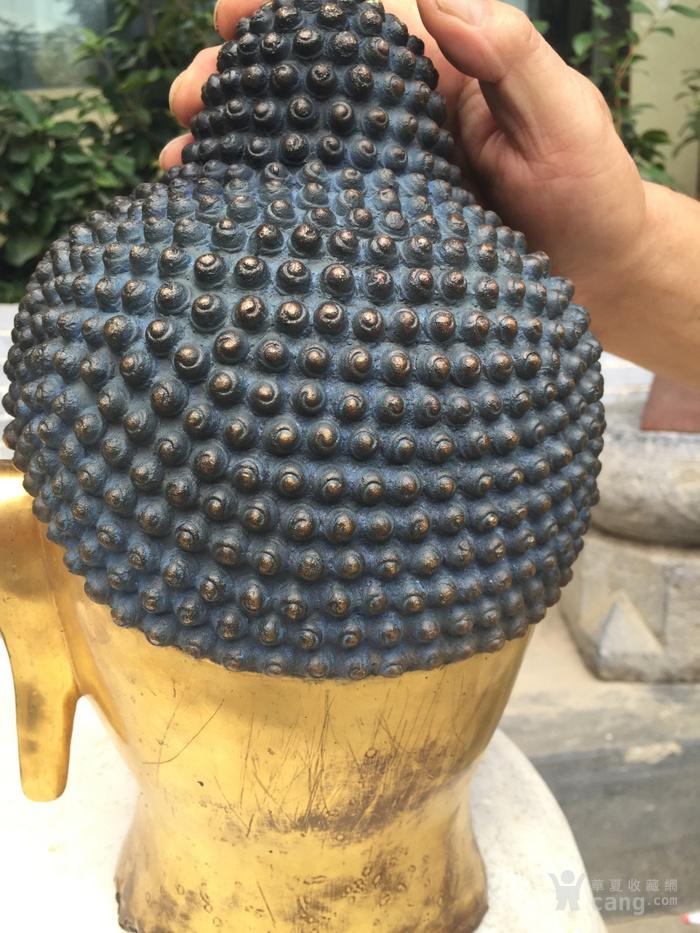 清代 铜鎏金释迦摩尼佛首图5