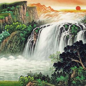 吴泽・小六尺青绿山水